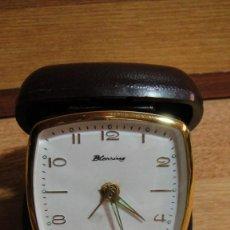 Despertadores antiguos: RELOJ DESPERTADOR DE VIAJE MARCA BLESSING. Lote 62384108