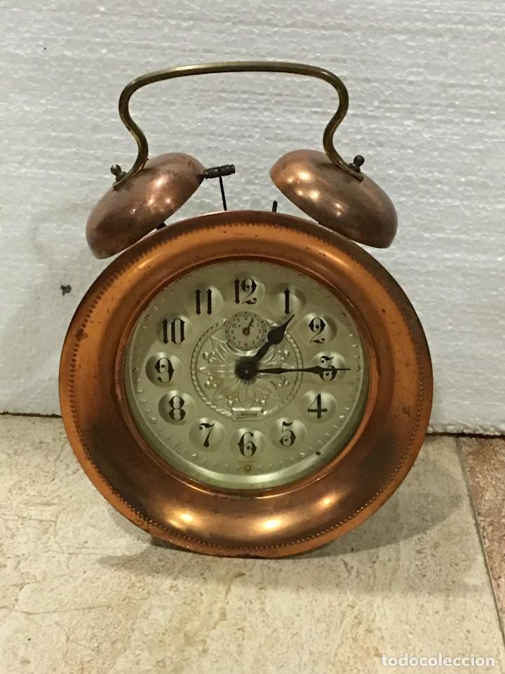 RELOJ DESPERTADOR DE COBRE CON CUERDA (Relojes - Relojes Despertadores)