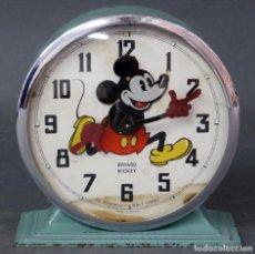 Despertadores antiguos: RELOJ DESPERTADOR BAYARD MICKEY MOUSE MADE IN FRANCE WALT DISNEY AÑOS 60 FUNCIONA. Lote 65861190