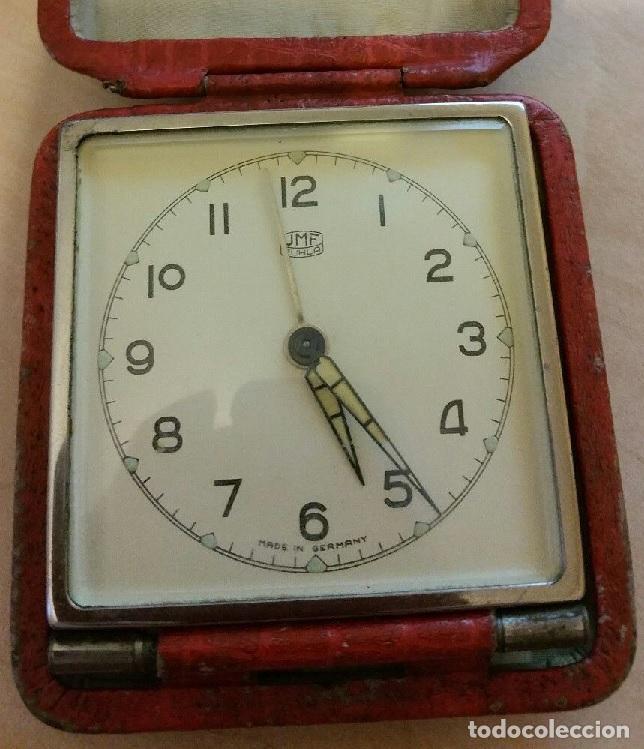 RELOJ DESPERTADOR DESPERTADOR DE VIAJE CON ALARMA MARCA RUHLA ALEMANIA AÑOS 60 FUNCIONANDO (Relojes - Relojes Despertadores)
