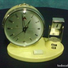 Despertadores antiguos: DESPERTADOR CALENDARIO FUNCIONANDO.. Lote 67597677