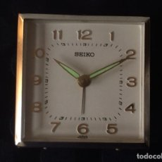 Despertadores antiguos: RELOJ DESPERTADOR SEIKO JAPAN SE PARA,- NECESITA LIMPIEZA. Lote 67639033