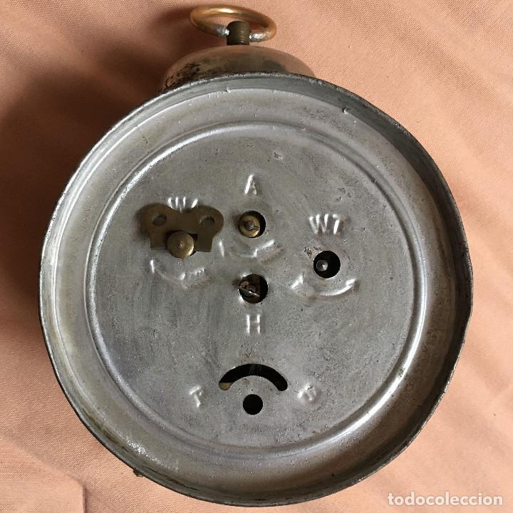 Despertadores antiguos: ELEGANTE RELOJ DESPERTADOR MUY ANTIGUO con ESFERA DE SEGUNDERO / VINTAGE CLOCK WATCH - Foto 2 - 67992077