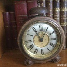Despertadores antiguos: PRECIOSO Y ANTIGUO RELOJ ALARMA.. Lote 68117705