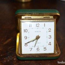 Despertadores antiguos: RELOJ DESPERTADOR DE VIAJE. Lote 68656921