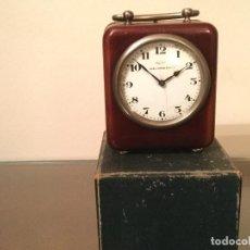 Despertadores antiguos: DESPERTADOR DE VIAJE. TORO PAPEL DE FUMAR. ALCOY. ALICANTE. PUBLICIDAD.. Lote 69800197