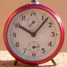 Despertadores antiguos: ANTIGUO RELOJ DESPERTADOR META. PARA REPARAR. Lote 72115503