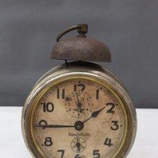 Despertadores antiguos: RELOJ DESPERTADOR KIENZLE STAUBDICHT MUY ANTIGUO- ALEMANIA PRINCIPIOS SIGLO XX - FUNCIONA. Lote 74277743