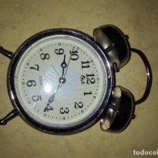 Despertadores antiguos: RELOJ DESPERTADOR TIPO ANTIGUO - FUNCIONANDO. Lote 75087771