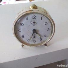 Réveils anciens: ANTIGUO RELOJ DESPERTADOR MARCHA JAZ. DE LOS AÑOS 70. Lote 75853951