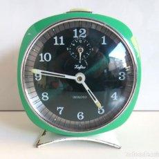 Despertadores antiguos: RELOJ DESPERTADOR ZAFIRO-GEOLOGO. Lote 76752587