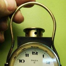 Despertadores antiguos: DESPERTADOR SWIZA 8 FUNCIONANDO. Lote 76810367
