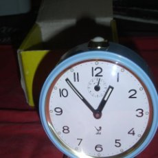 Despertadores antiguos: RELOJ DESPERTADOR FRANCES MARCA JAZ. Lote 79610965