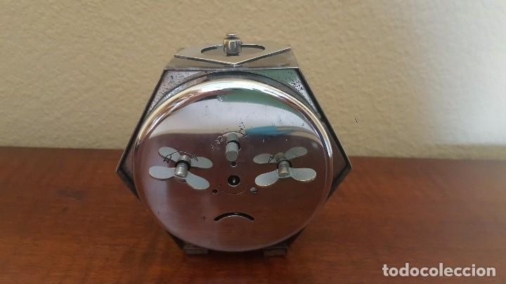 Despertadores antiguos: Reloj despertador modernista cromado. En funcionamiento. - Foto 5 - 80960320