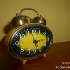 Despertadores antiguos: RELOJ DESPERTADOR GOLDBUHL. RETRO VINTAGE. AÑOS 70. WEST GERMANY. A ESTRENAR, DE STOCK DE RELOJERÍA.. Lote 80998820
