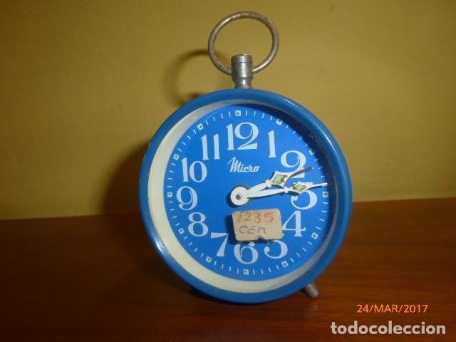 RELOJ DESPERTADOR MICRO. AÑOS 70. SPAIN. CARGA MANUAL. A ESTRENAR, DE STOCK DE TIENDA. (Relojes - Relojes Despertadores)