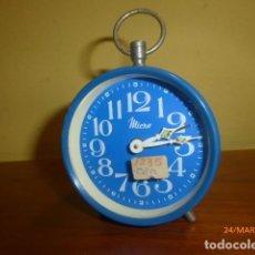Despertadores antiguos: RELOJ DESPERTADOR MICRO. AÑOS 70. SPAIN. CARGA MANUAL. A ESTRENAR, DE STOCK DE TIENDA.. Lote 80999588