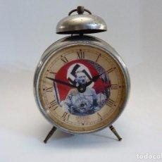 Despertadores antiguos: ANTIGUO RELOJ DESPERTADOR JUNGHANS MILITAR NAZI HITLER. Lote 128428111