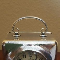 Despertadores antiguos: RELOJ DESPERTADOR FRANCÉS EN LATÓN CROMADO. PRECIOSO.. Lote 81629204