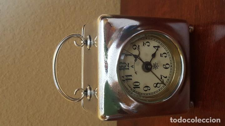 Despertadores antiguos: Reloj despertador francés en latón cromado. Precioso. - Foto 2 - 81629204