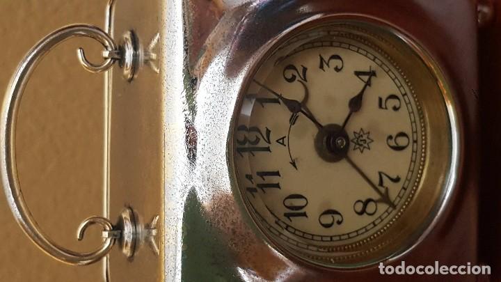 Despertadores antiguos: Reloj despertador francés en latón cromado. Precioso. - Foto 3 - 81629204