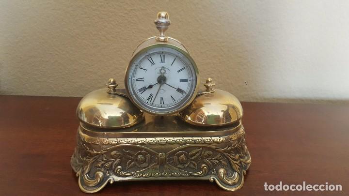 RELOJ DESPERTADOR PARKER AMERICANO EN BRONCE CON SONERÍA CON CAMPANAS (Relojes - Relojes Despertadores)