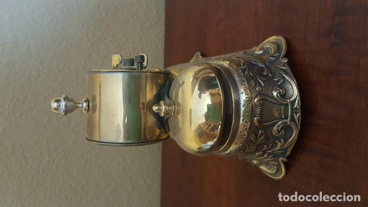 Despertadores antiguos: Reloj despertador PARKER americano en bronce con sonería con campanas - Foto 5 - 81630280