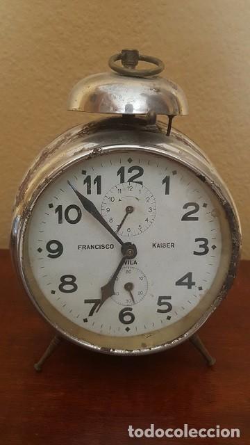 RELOJ DESPERTADOR FRANCISCO KAISER. ÁVILA. AÑOS 30. (Relojes - Relojes Despertadores)
