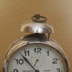 Despertadores antiguos: RELOJ DESPERTADOR FRANCISCO KAISER. ÁVILA. AÑOS 30.. Lote 81630796