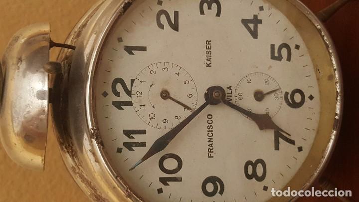 Despertadores antiguos: Reloj despertador Francisco Kaiser. Ávila. Años 30. - Foto 2 - 81630796