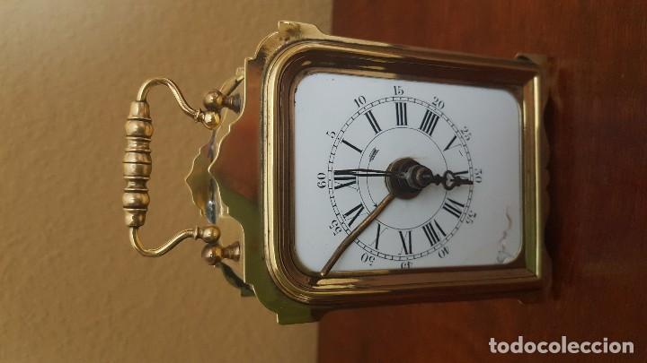 Despertadores antiguos: Reloj despertador de viaje francés de 1850. En funcionamiento. - Foto 2 - 81632492