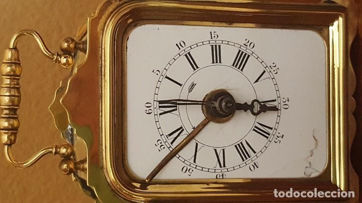 Despertadores antiguos: Reloj despertador de viaje francés de 1850. En funcionamiento. - Foto 3 - 81632492