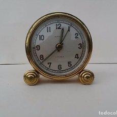 Despertadores antiguos: PEQUEÑO DESPERTADOR EUROPA. FUNCIONANDO.. Lote 82005780