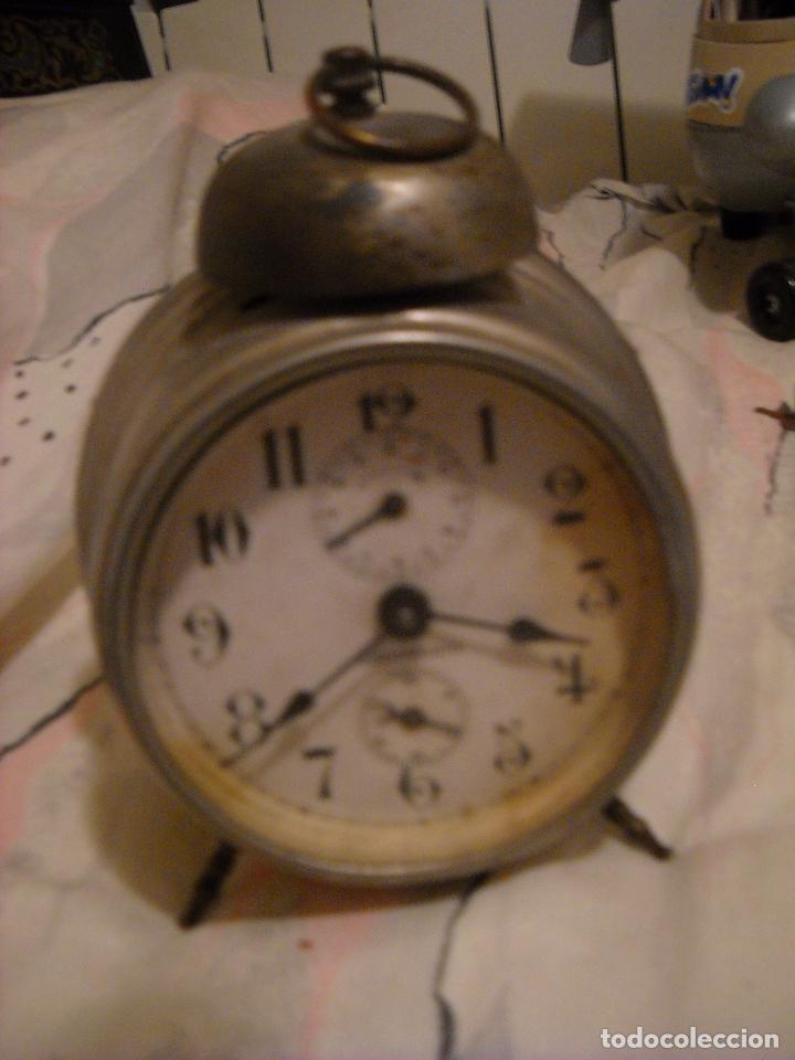 RELOJ DESPERTADOR MARCA STOCKHOLM FUNCIONA BIEN (Relojes - Relojes Despertadores)