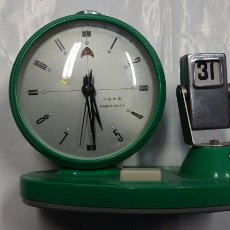 Despertadores antiguos: DESPERTADOR-CALENDARIO-FUNCIONANDO - PB25. Lote 82355559