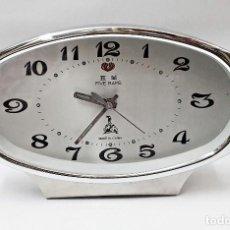 Despertadores antiguos: DESPERTADOR DE CUERDA FIVE RAMS. Lote 83908092