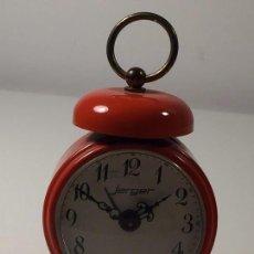 Despertadores antiguos: BONITO RELOJ / DESPERTADOR JERGER (FUNCIONA) A CUERDA - VINTAGE. Lote 84141012