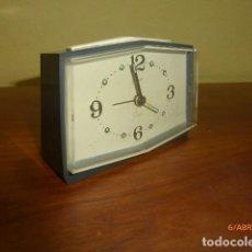 Despertadores antiguos: RELOJ DESPERTADOR GOLDBUHL. AÑOS 70 VINTAGE. CARGA MANUAL. A ESTRENAR, DE STOCK DE TIENDA. Lote 84835564
