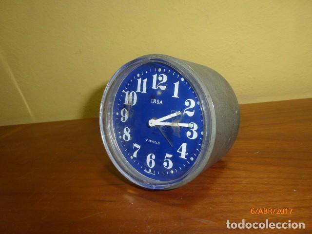 RELOJ DESPERTADOR IRSA. AÑOS 70 VINTAGE. CARGA MANUAL. A ESTRENAR, DE STOCK DE RELOJERÍA. (Relojes - Relojes Despertadores)