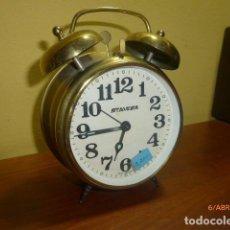 Despertadores antiguos: RELOJ DESPERTADOR STAIGER, GERMANY. AÑOS 70. CARGA MANUAL. DE STOCK DE TIENDA.. Lote 84838400