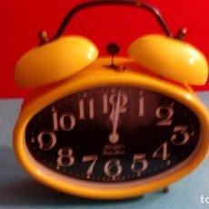 Despertadores antiguos: RELOJ DESPERTADOR JERGER GERMANY FUNCIONANDO MEDIDAS 24X25X8 CM. Lote 84911784