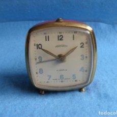 Despertadores antiguos: BONITO RELOJ DESPERTADOR MECANICO,AÑOS 60,SPAIN,OBOYARDO. Lote 84923072