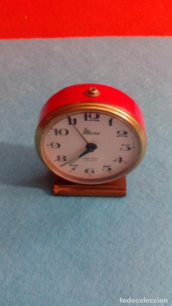 RELOJ DESPERTADOR MICRO FUNCIONANDO MEDIDAS 7X6 CM (Relojes - Relojes Despertadores)