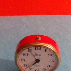 Despertadores antiguos: RELOJ DESPERTADOR MICRO FUNCIONANDO MEDIDAS 7X6 CM. Lote 86252288