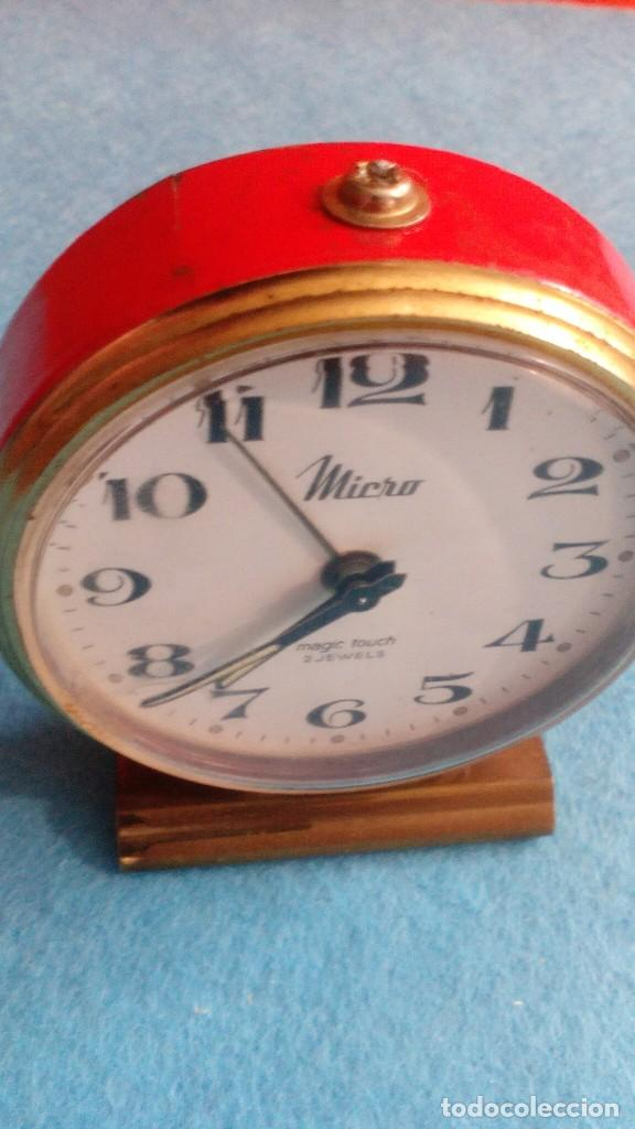 Despertadores antiguos: RELOJ DESPERTADOR MICRO FUNCIONANDO MEDIDAS 7X6 CM - Foto 2 - 86252288
