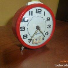 Despertadores antiguos: RELOJ DESPERTADOR GONG. CARGA MANUAL. AÑOS 70 VINTAGE. A ESTRENAR, DE STOCK DE RELOJERÍA. Lote 86725584