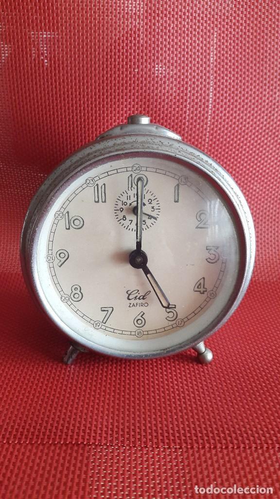 ANTIGUO RELOJ DESPERTADOR - CID ZAFIRO (Relojes - Relojes Despertadores)