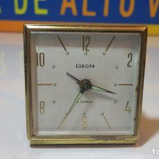 Despertadores antiguos: RELOJ DESPERTADOR EUROPA 2 JEWELS. Lote 87517284