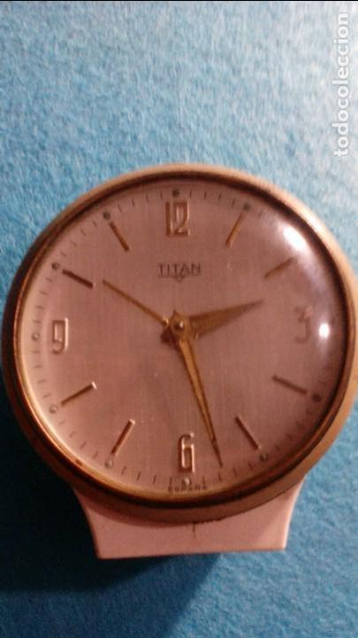 RELOJ DESPERTADOR TITAN FUNCIONANDO MEDIDAS 8X6X2 CM (Relojes - Relojes Despertadores)
