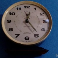Despertadores antiguos: RELOJ DESPERTADOR ROCKING FUNCIONANDO FRANCIA MEDIDAS 11X11X4 CM. Lote 88297860